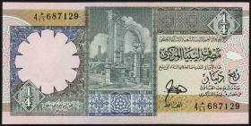 Libyen / Libya P.57a 1/4 Dinar (ca.1991) (1)