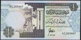 Libyen / Libya P.58a 1/2 Dinar (ca.1991) (1)