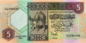 Libyen / Libya P.60c 5 Dinars (ca.1991) (1)