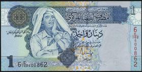Libyen / Libya P.68b 1 Dinar (2004) (1)