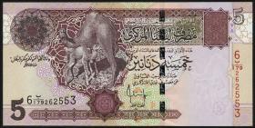 Libyen / Libya P.69b 5 Dinars (2004) (1)