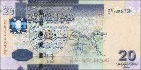 Libyen / Libya P.74 20 Dinars (2009) (1)