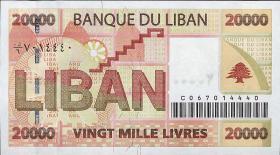 Libanon / Lebanon P.87 20000 Livres 2004 (1)
