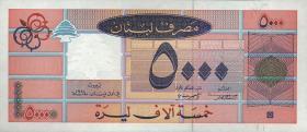 Libanon / Lebanon P.71a 5000 Livres 1994 (1)