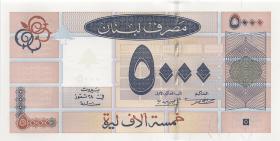 Libanon / Lebanon P.79 5000 Livres 2001 (1)