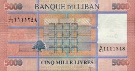 Libanon / Lebanon P.91 5000 Livres 2012 (1)