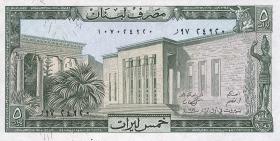 Libanon / Lebanon P.62d 5 Livres 1988 (1)