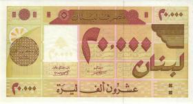 Libanon / Lebanon P.72 20000 Livres 1995 (1)