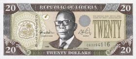 Liberia P.23 20 Dollars 1999 (1)