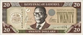 Liberia P.28 20 Dollars 2003 (1)