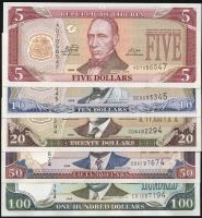 Liberia P.26-30 5 - 100 Dollars 2009 (1)
