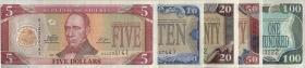 Liberia P.26-30 5 - 100 Dollars 2011 (1)