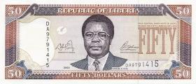 Liberia P.29 50 Dollars 2003 (1)