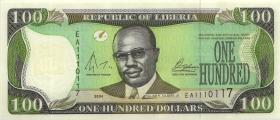 Liberia P.30b 100 Dollars 2004 (1)