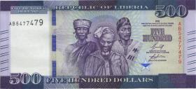Liberia P.36c 500 Dollars 2020 (1)