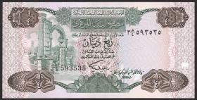 Libyen / Libya P.47 1/4 Dinar (1984) (1)