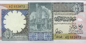 Libyen / Libya P.52 1/4 Dinar (ca.1990) (1)
