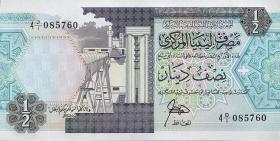 Libyen / Libya P.53 1/2 Dinar (ca.1990) (1)