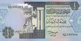 Libyen / Libya P.58b 1/2 Dinar (ca.1991) (1)