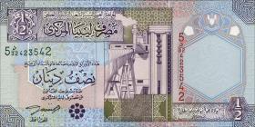 Libyen / Libya P.63 1/2 Dinar (2002) (1)