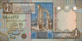Libyen / Libya P.62 1/4 Dinar (2002) (1)