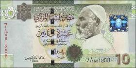 Libyen / Libya P.73 10 Dinars (2009) (1)