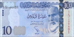 Libyen / Libya P.82 10 Dinar (2015) (1)