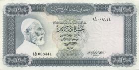 Libyen / Libya P.37b 10 Dinars (1972) Omar el-Mukhtar (1)
