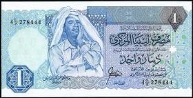 Libyen / Libya P.54 1 Dinar (1988) (1)