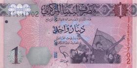 Libyen / Libya P.76 1 Dinar 2013 (1)