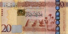 Libyen / Libya P.79 20 Dinars 2013 (1)