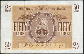 Libyen / Libya P.M05 50 Lire (1943) (3+)