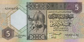 Libyen / Libya P.60b 5 Dinars (ca.1991) (1)