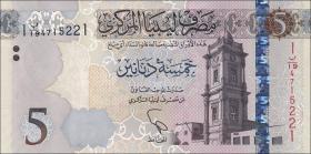 Libyen / Libya P.neu 5 Dinar 2015 (1)