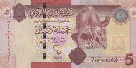 Libyen / Libya P.77 5 Dinars 2011 (1)