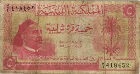 Libyen / Libya P.12 5 Piastres 1952 (5)