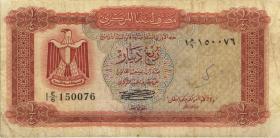 Libyen / Libya P.33b 1/4 Dinar (1972) (4)