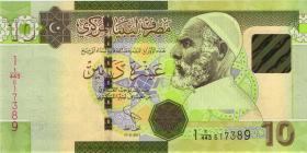 Libyen / Libya P.73A 10 Dinar 2011 (1)