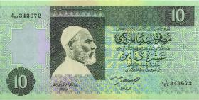 Libyen / Libya P.61a 10 Dinars (1991) (1)