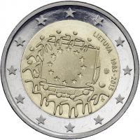 Litauen 2 Euro 2015 30 Jahre EU-Flagge