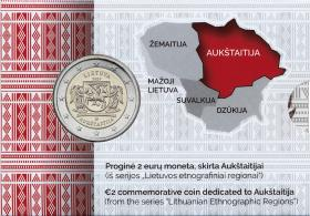 Litauen 2 Euro 2020 Aukstatija (Region) Coincard
