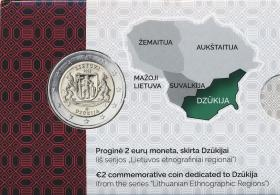 Litauen 2 Euro 2021 Dzukija (Region) Coincard