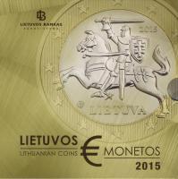 Litauen Euro-KMS 2015 im Folder
