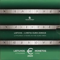"""Litauen Euro-KMS 2020 """"5 Jahre in der Euro-Zone"""" im Folder"""