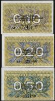 Litauen / Lithuania P.29b - 31b 0,10-0,50 Talonas 1991 (1)