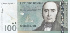 Litauen / Lithuania P.70 100 Litu 2007 (1) Serie AA