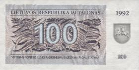 Litauen / Lithuania P.42 100 (Talonas) 1992 (1)