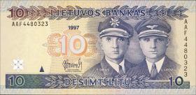 Litauen / Lithuania P.59 10 Litu 1997 (1)