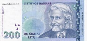 Litauen / Lithuania P.63 200 Litu 1997 (1)
