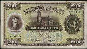 Litauen / Lithuania P.27 20 Litu 1930 (3)